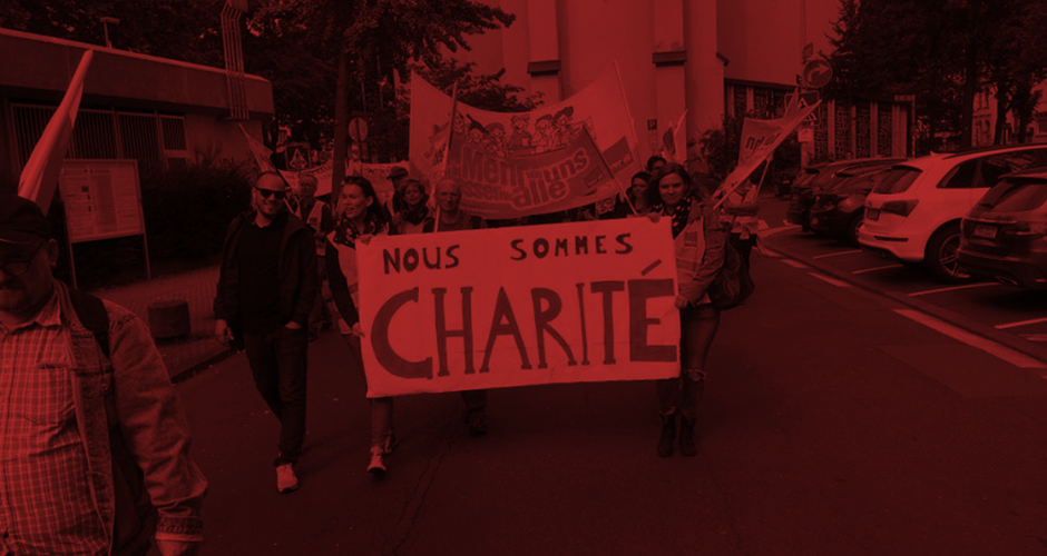 Nous sommes Charité Demo in Mainz am 9. September 2017