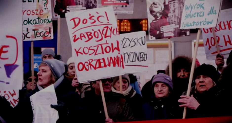 Mieterinnen protestieren in Warschau