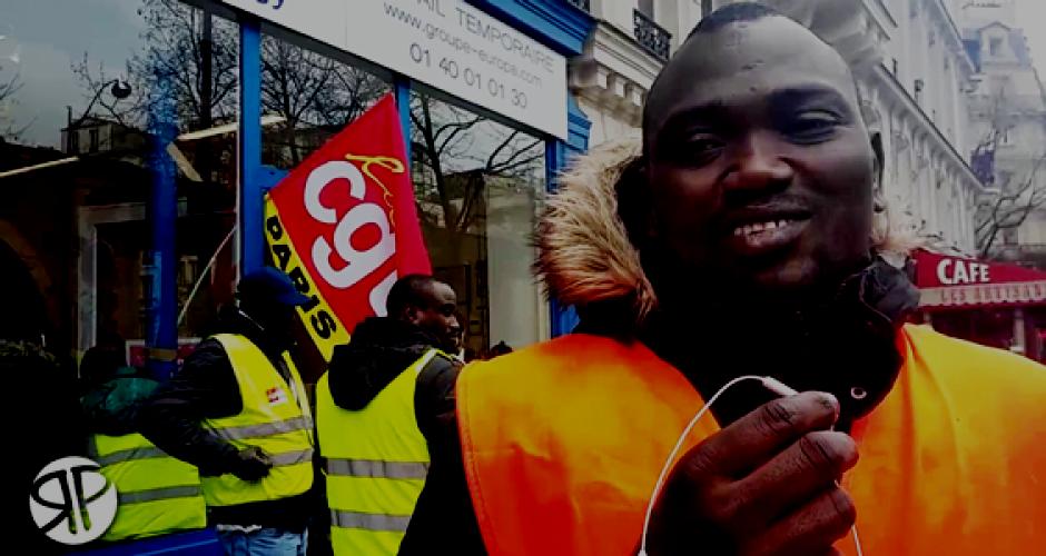Streikender Bauarbeiter ohne Papiere, Paris