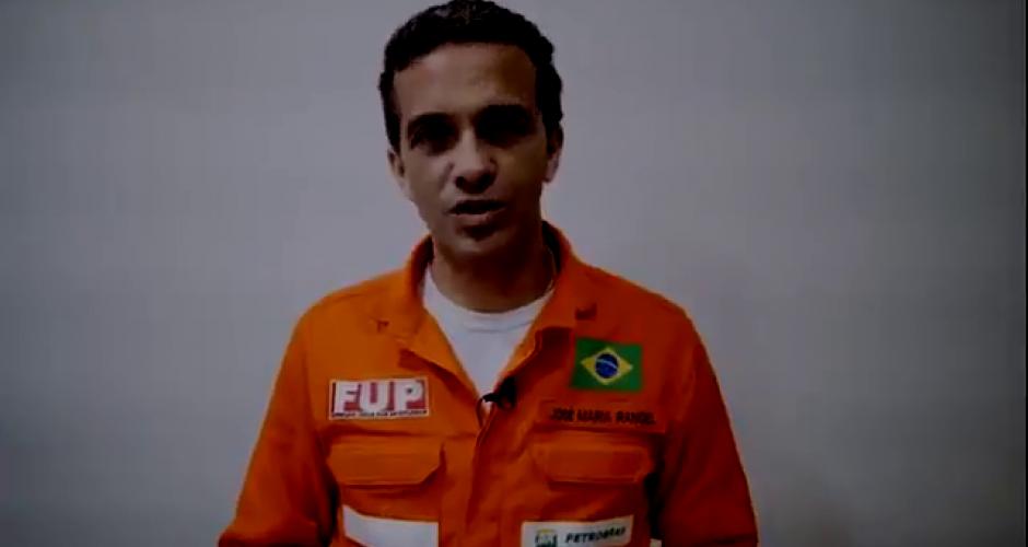 José Maria Rangol FUP Gewerkschaft der Ölarbeiter Brasilien