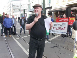 Protest vor dem Wombats Berlin, Mai 2019