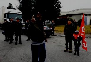 Fino alla vittoria - Streikposten vor Levoni Fleischfabrik in Modena