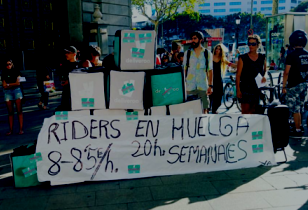 Transparent: Riders an huelga 20 horas semanales
