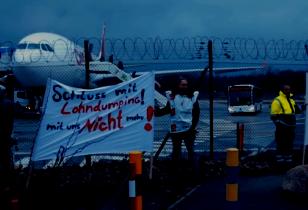 Streik am Flughafen Tegel Schluss mit Lohndumping