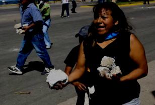 Oaxaca street riots 2006